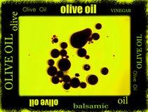 香醋和橄榄油边界 库存照片