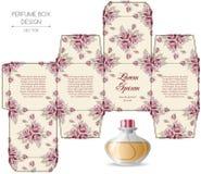 香水箱子设计 库存例证