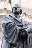 马丁・路德纪念碑在德累斯顿德国 免版税库存照片
