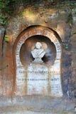 马丁・路德纪念碑在巴德尚道,撒克逊人的瑞士 免版税库存图片
