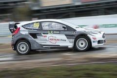 马丁KACZMARSKI 巴塞罗那FIA世界Rallycross 库存照片