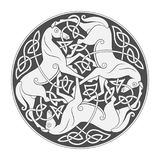 马三位一体的古老凯尔特神话标志 向量例证