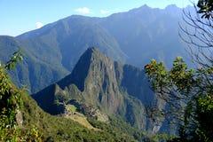 马丘比丘全景从马丘比丘山的 库存图片