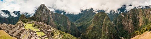 马丘比丘全景秘鲁,南美联合国科教文组织世界遗产名录 库存照片