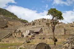 马丘比丘印加人废墟 免版税库存照片