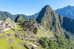 马丘比丘在夏天,秘鲁破坏 库存照片