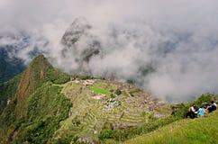 马丘比丘在秘鲁 科教文组织世界遗产站点 库存图片