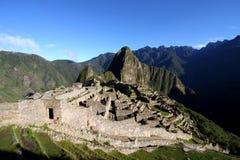 马丘比丘城堡,秘鲁,南美 免版税库存图片