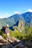马丘比丘的人,秘鲁 库存图片