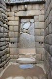 马丘比丘的拱道 免版税库存图片