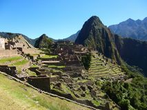 马丘比丘秘鲁印加人废墟世界奇迹南美洲 库存图片