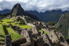 马丘比丘难以置信的古老废墟在秘鲁 免版税库存图片