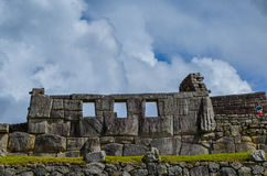 马丘比丘,库斯科地区,秘鲁2013年6月4日:15世纪印加人城堡马丘比丘的住宅区的细节 免版税图库摄影