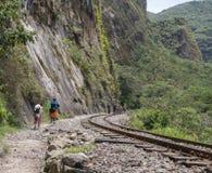 马丘比丘,库斯科,秘鲁印加人足迹  库存图片