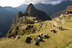 马丘比丘,库斯科,秘鲁 免版税图库摄影