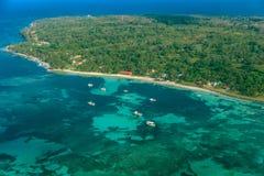 马伊斯群岛鸟瞰图尼加拉瓜的 免版税图库摄影