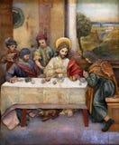 马修邀请了宴餐的耶稣家 图库摄影