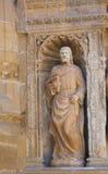 马修雕象哈罗,拉里奥哈教会的福音传教士  免版税图库摄影