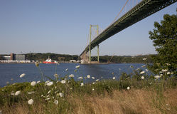 马偕桥梁,一个地标的看法在哈利法克斯新斯科舍 库存图片
