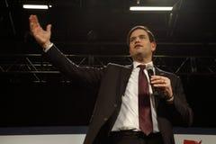 马克罗・鲁比奥举行竞选集会在得克萨斯驻地,达拉斯舞厅,北部拉斯维加斯, NV 免版税库存图片