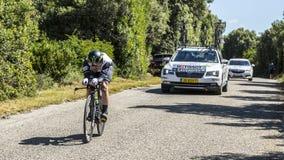 马克・卡文迪什,单独时间试验-环法自行车赛2016年 图库摄影