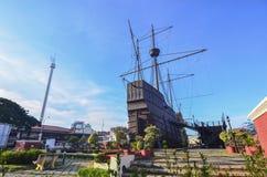 马六甲市的马六甲海博物馆2015年10月13日在马六甲 库存照片