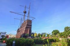 马六甲市的马六甲海博物馆2015年10月13日在马六甲 免版税库存照片