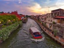 马六甲河沿,马来西亚 库存照片