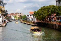 马六甲河,马来西亚 免版税库存照片