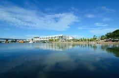 马六甲河 库存图片