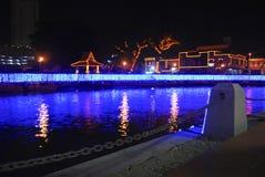 马六甲河 库存照片