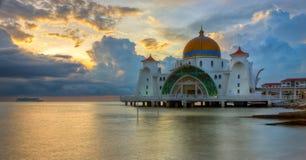 马六甲海峡清真寺,马来西亚 库存图片