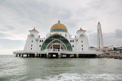 马六甲海峡清真寺,马来西亚 图库摄影