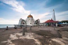 马六甲海峡清真寺 免版税库存照片