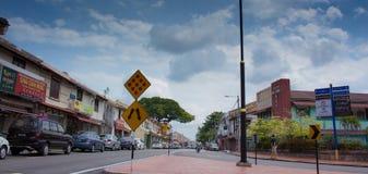 马六甲的街道视图 库存照片