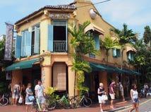 马六甲,马来西亚的咖啡馆 免版税图库摄影
