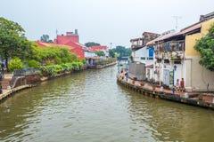 马六甲,马来西亚的城市视图 免版税库存图片