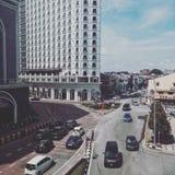 马六甲,马来西亚的街道视图 免版税图库摄影