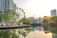 马六甲,马来西亚, 2018年4月8日:马六甲市被授予联合国 免版税库存照片