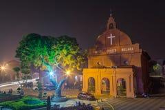 马六甲,马来西亚-大约2015年9月:荷兰正方形的基督教会在马六甲,马来西亚 图库摄影
