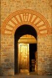 马其顿、Ohrid/Ochrid、圣徒KClement和Pantelimon教会 库存图片