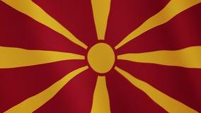 马其顿共和国沙文主义情绪的动画 整个银幕 国家的标志 皇族释放例证