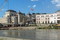 马其顿国家戏院在市斯科普里,马其顿共和国 库存图片