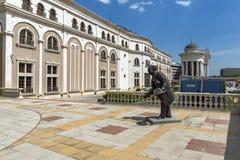 马其顿国家戏院在市斯科普里,马其顿共和国 图库摄影