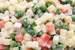 马其顿沙拉, macedoine de legumes,混杂的菜沙拉 免版税库存图片