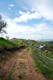 从马其顿的山风景 免版税图库摄影