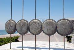 马其顿盾 免版税库存照片