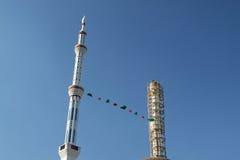 马其顿,二座尖塔 库存图片