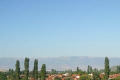 马其顿,斯科普里的村庄 免版税库存照片