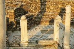 马其顿, Bitola, Heraclea Lyncestis大教堂废墟  免版税图库摄影